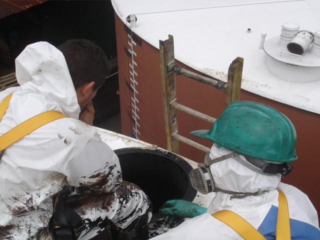 Combustible gesti n residuos peligrosos for Limpieza de tanques de combustible